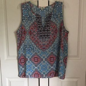 🌻🌻XL Red, White and Blue.  Sleeveless top
